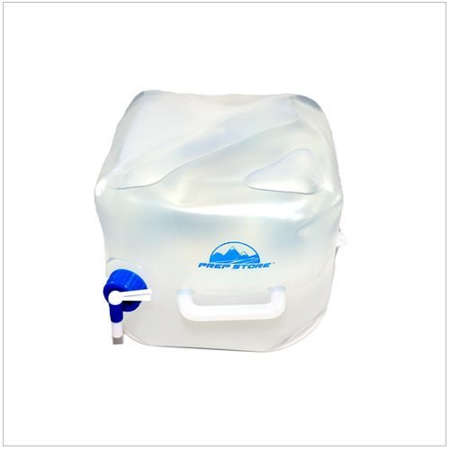 Two Gallon Collapsible Water Container is BPA-Free and made from food-grade PVC. It features a leak-proof spigot and handle. The Container is both durable and re-usable and perfect for outdoor camping, water storage, road trips and much more. It is foldable so when not in use, the Container packs away for convenience.
